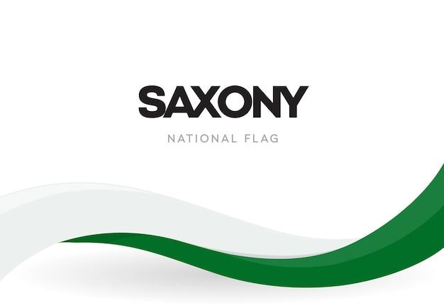 Agitant le drapeau national de l'état libre de saxe