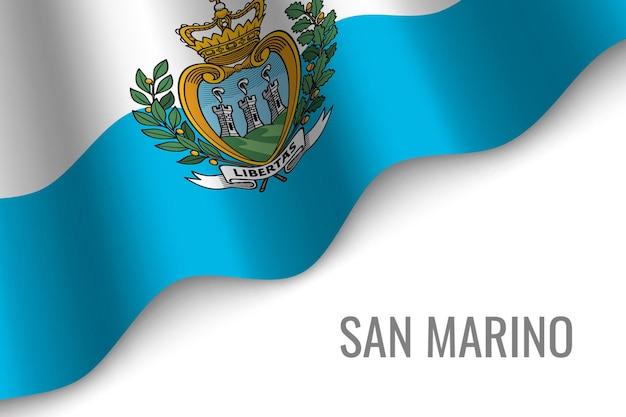 Agitant le drapeau de saint-marin