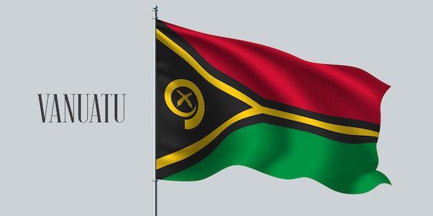 Agitant le drapeau de vanuatu