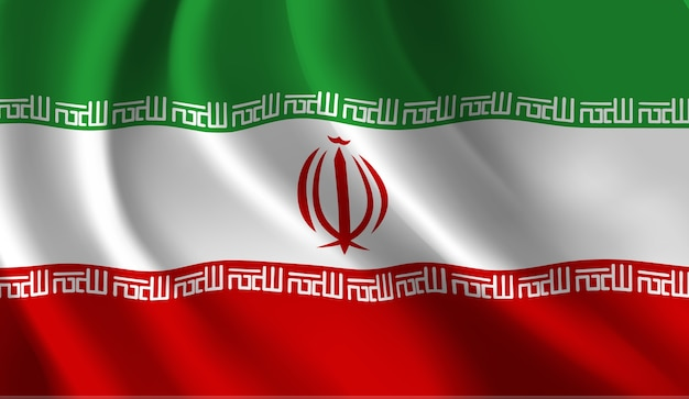 Agitant l'illustration abstraite du drapeau iranien