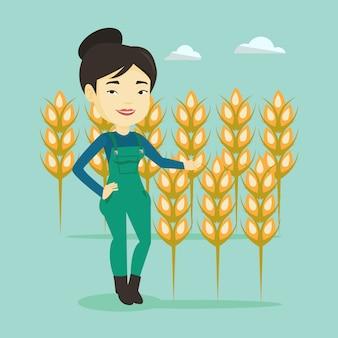 Agriculteur dans le champ de blé