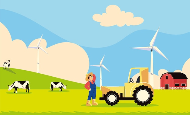 Agriculteur de travaux agricoles