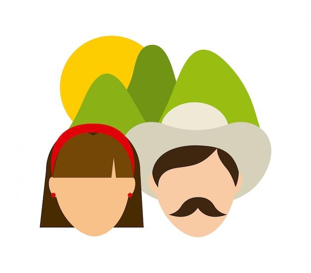 Les agriculteurs conçoivent au cours de l'illustration vectorielle fond blanc