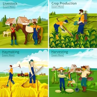 Agriculture 2x2 design concept