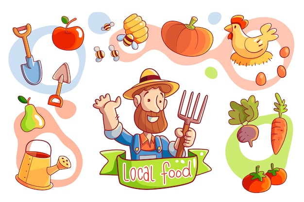 Agriculture biologique illustrée