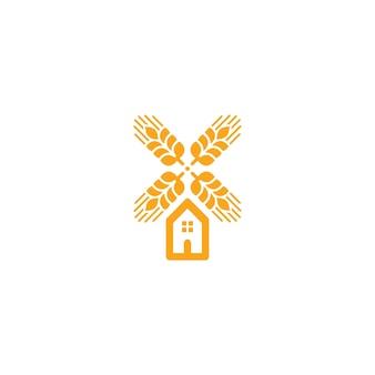 Agriculture blé logo vector modèle icône design