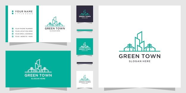 Agriculture de la ville verte avec carte de visite