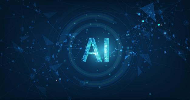 Ai (intelligence artificielle) avec la conception du circuit.