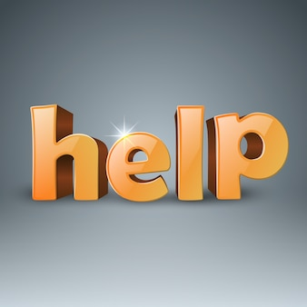 Aide aux entreprises 3d text