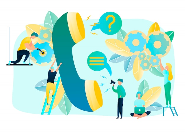 Aide dans les demandes des clients avec call support
