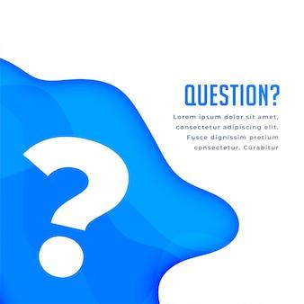 Aide en ligne et arrière-plan de la question bleue