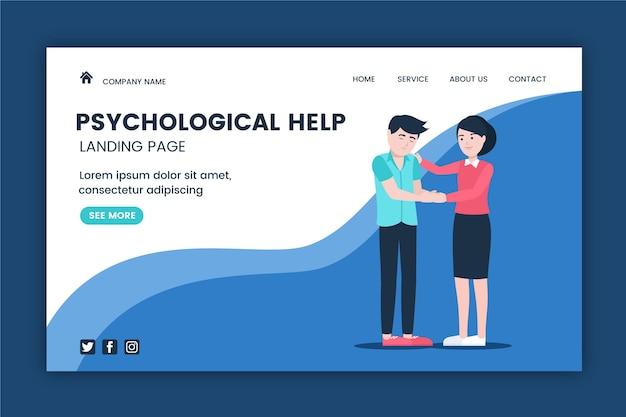 Aide psychologique - page de destination