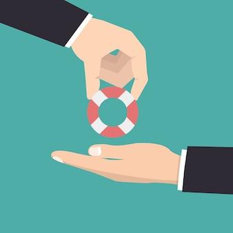 Aider les entreprises. équipe performante. travail en équipe. concept d'investissement.
