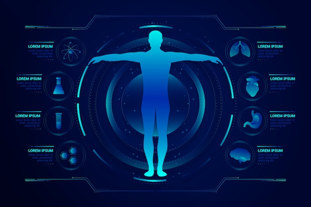 Aider le système médical avec des infographies futuristes