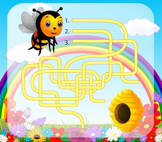 Aidez l'abeille à trouver le chemin de la ruche