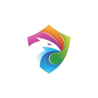Aigle 3d coloré
