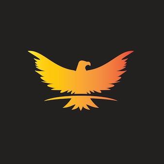 Aigle ailes logo animal oiseau vecteur