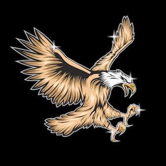 L'aigle bat ses ailes