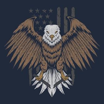 Aigle drapeau usa