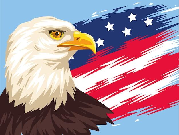 Aigle et drapeau