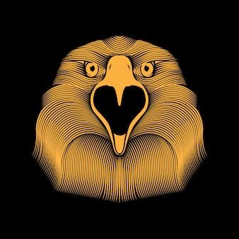 Aigle ligne illustration art
