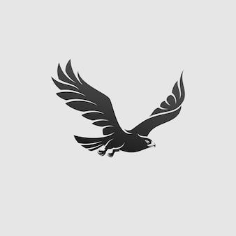 Aigle noir volant