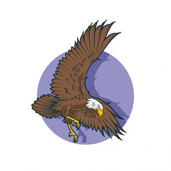 Aigle se prépare à atterrir