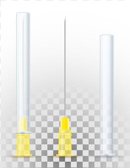Aiguille médicale pour seringue pour injection stock illustration isolé sur fond blanc