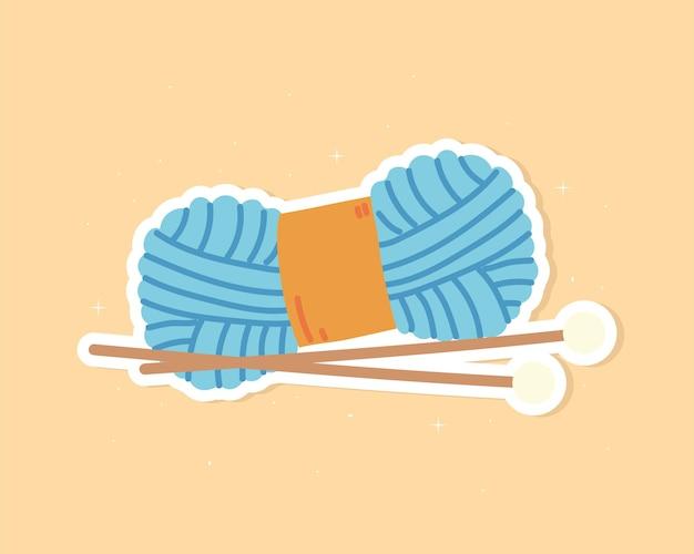 Aiguilles à crocheter en fil bleu