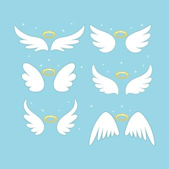 Ailes de fée d'ange scintillantes avec nimbus d'or