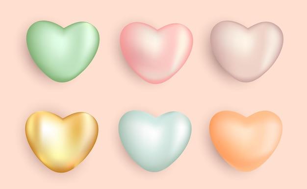 Aime la 3d avec des couleurs pastel
