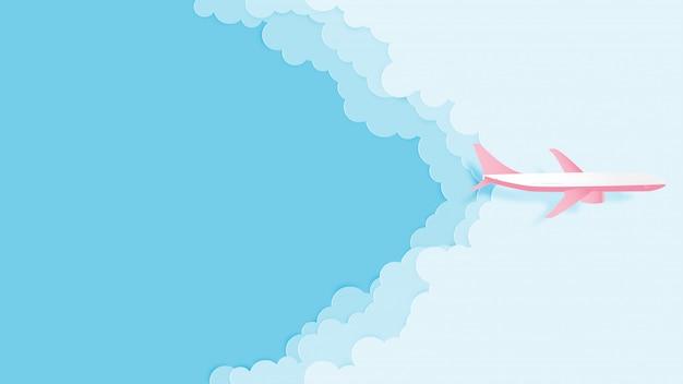 Aime voyager papier d'illustration vectorielle concept coupe style.