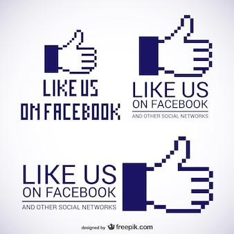 Aimez-nous sur facebook logos