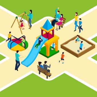 Aire de jeux isométrique pour enfants