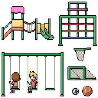 Aire de jeux pour enfants pixel art
