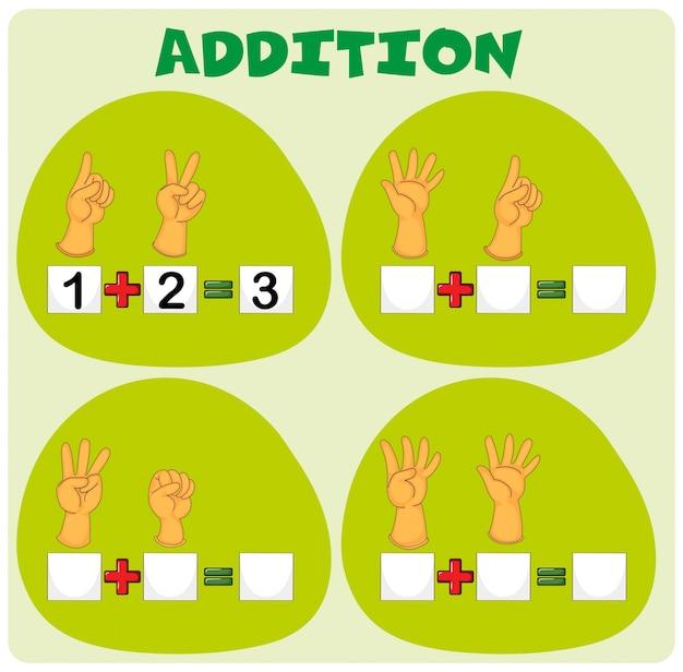 Ajout d'une feuille de calcul avec des symboles de la main