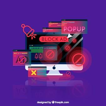 Ajouter le bloc pop up concept avec un design plat