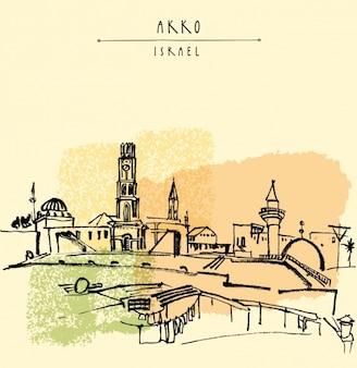 Akko conception d'arrière-plan