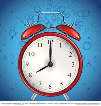 Alarme bleu de l'horloge vecteur graphique