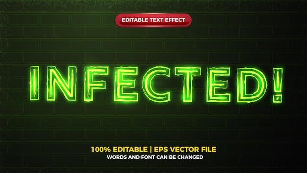 Alerte verte infectée lueur électrique gras modifiable text effect.jpg