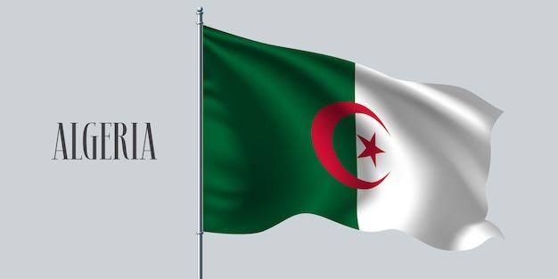 Algérie, agitant le drapeau
