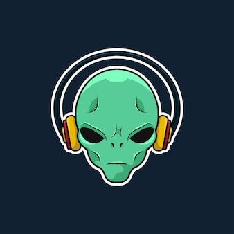 Alien avec casque