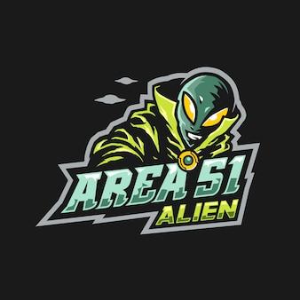 Alien witch e-sport logo