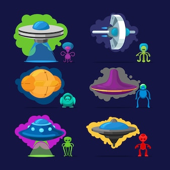 Aliens vector personnages