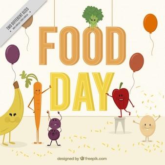 Alimentaire day background avec des fruits et légumes