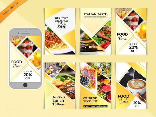 Alimentation restaurant social media post
