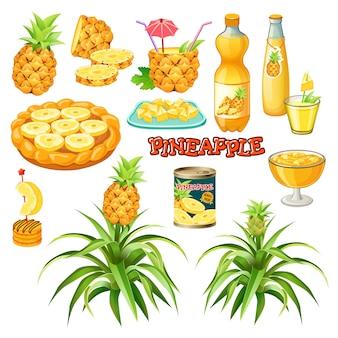 Aliments à base d'ananas.