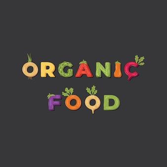 Aliments biologiques - étiquette de lettrage. .