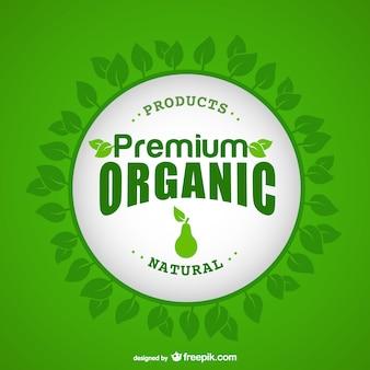 Les aliments biologiques étiquettes vecteur ensemble