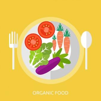 Les aliments biologiques, fond, conception
